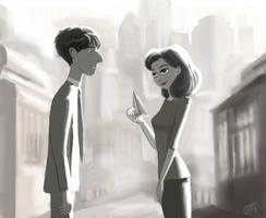 Meg and George - Paperman by DreamyArtistRoxy3