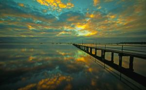 Griffiths Gully Jetty Sunrise 2 by DanielleMiner