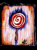White and Red Swirl Lolli by Foxhawk95