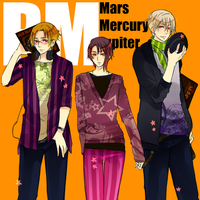 PM: Mars, Mercury and Jupiter by Cioccolatodorima