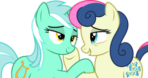 Bon-Bon x Lyra [Request] by ThePoneSenpai