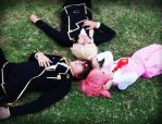 Suzaku Gino and Anya Cosplay by JhonkunAGM