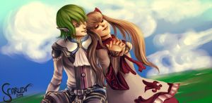 Star ocean the last hope: Faize and Lymle by ScarlettIwater