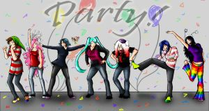 New Years Party by Link-Zelda48
