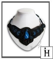 Leather Queen Leather necklace by IrynaHamilton