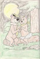 Yogi and Cindy bear in love by bvw1979
