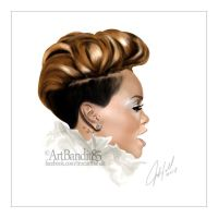 Rihanna Painting by futuristicstyle