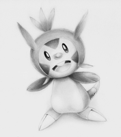 Chespin Drawing - Pokemon X Y by ErnestoVladimir
