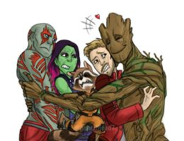 Guardians Hug by pencilHeadno7