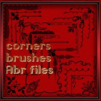 Photoshop brushes corners -1 by roula33