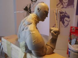 Wolverine sculpting process by figuralia