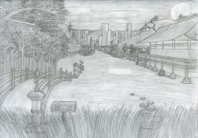 One-Point Perspective of Japan by artboy70