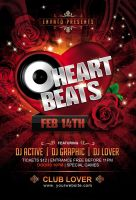 Heart Beats Party Flyer by Dilanr