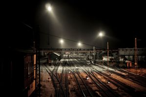 Busy and lonely: Trainstation by Marsyas-Lantern