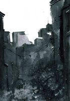 ink cityscape-02 by asbiswas