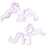 Ascended Twilights Sketches by feather-chan