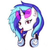Sassy Vinyl Scratch Portrait by MrFulp