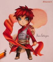 Gaara Chibi Version  - Naruto by AlexiaRodrigues