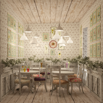 Cafe. Shabby-chic design by Oleksandra91