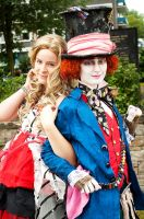 Alice and Mad Hatter by Verelaitale