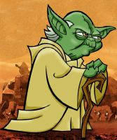 Yoda: Colored Line Art by AskGriff