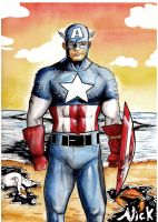 Captain America Oil Spill by Nick-OG