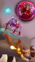 Awesomenauts fanart - Three awesome girls by ElleDrawsAndStuff