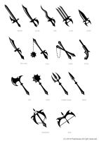 weapon pictogram by zhowee14