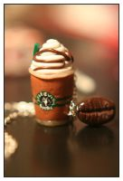 Starbucks Coffee Necklace by ladyhawk21