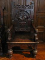 very old wooden chair by LittleBlueStocking