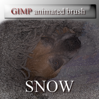 GIMP animated snow brush by feniksas4