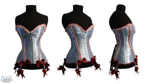 Blue Cake Corset Front by Larva by Eisfluegel