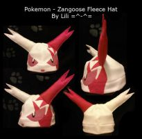 Zangoose Fleece Hat by LiliNeko