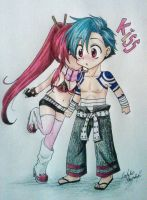 Yoko and Kamina by Killjoy-Chidori