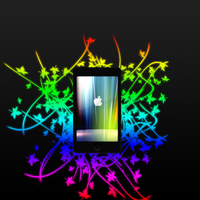 iPod touch Rainbow by VectorArrow