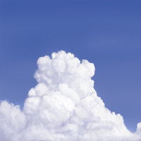 Cloud close up painting challenge by VengefulSpirits
