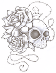 Skull Flowers by vector010