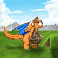 Hungry charizard inner view by Vescor