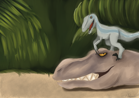 Blue and Rexy by Togekisspika35