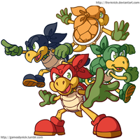 Paper Mario Boss Rush Collab : Koopa Bros by The-Knick
