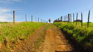 Skipping down a dirt road by Madi-Gascarr