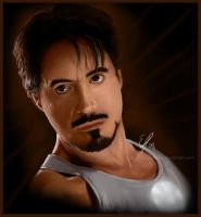 Tony Stark made this in a cave by elz-art