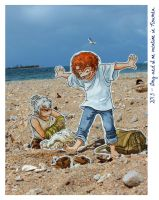 Be-Twin on the beach by Naa-