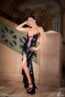 Baroness Bijou Latex-Dress black by AmatorisLatexCouture