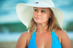 Woman in hat I by MotHaiBaPhoto