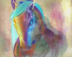 Impressionism Horse by duxul