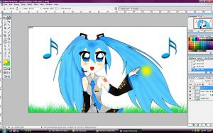 Miku in process by Vocaloidstars
