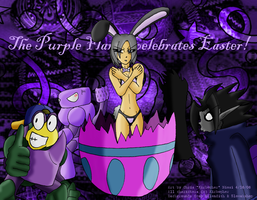 Purple Flame Celebrates Easter by Kirbopher15