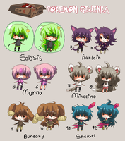 20 points for chibi - POKEMON GIJINKA set 6 -CLSD- by Ayuki-Shura-Nyan