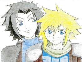 Zack and Cloud_CC by Finalbladeyuking13